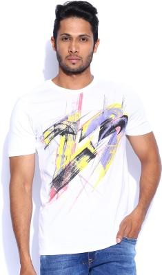 Nike Printed Men's Round Neck White T-Shirt