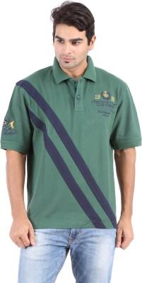 Furore Striped Men's Polo Green T-Shirt