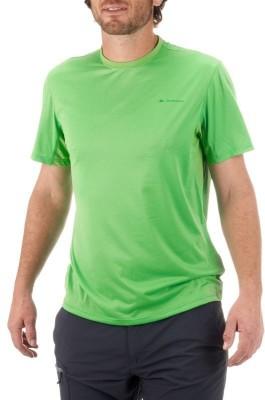 Quechua Solid Men's Round Neck Light Green T-Shirt