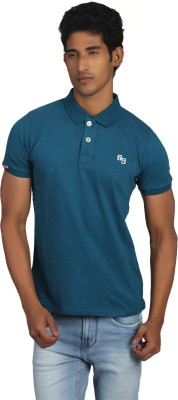 Killer Solid Men's Polo Neck Green T-Shirt