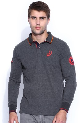 Jn Joy Solid Men's Polo Neck T-Shirt