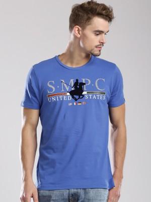 Santa Monica Printed Men's Round Neck T-Shirt