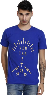 Black Catz Printed Men's V-neck T-Shirt