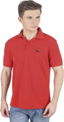 PRO Lapes Solid Men's Polo Neck Red T-Shirt