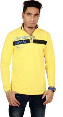 Etyhas Collections Solid Men's Polo Neck Yellow T-Shirt