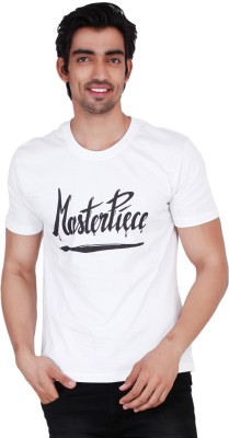 Change360 Printed Men's Round Neck White T-Shirt