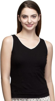 Dee Fashion House Solid Women's V-neck Black T-Shirt