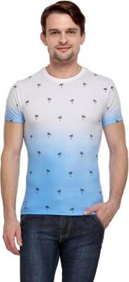 Flippd Graphic Print Men's Round Neck Blue T-Shirt