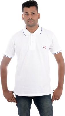 Moladz Solid Men's Polo White T-Shirt
