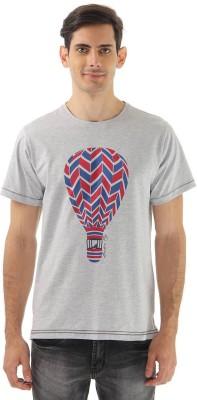 London Fog Graphic Print Men's Round Neck Grey T-Shirt