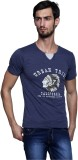 Era of Attitude Printed Men's V-neck Blu...