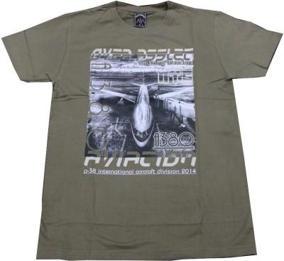 CLICKPURCH Printed Men's Round Neck Brown T-Shirt