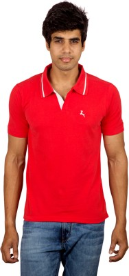 Red Line Solid Men's Polo Red T-Shirt