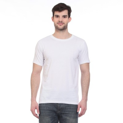 Blue-Tuff Solid Men's Round Neck T-Shirt