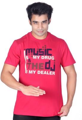 Ektarfaa Printed Men's Round Neck Purple T-Shirt