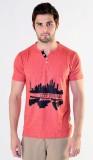 Avoir Envie Printed Men's V-neck Red T-S...