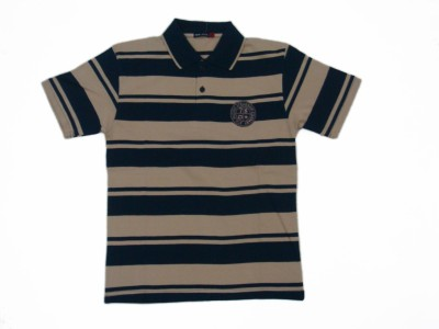 Miracle Striped Boy's Polo Neck T-Shirt