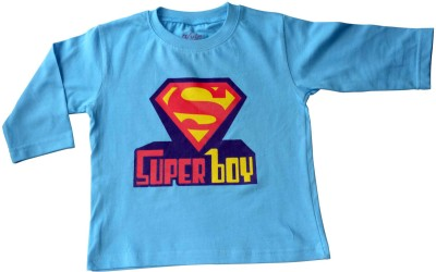 Acute Angle Printed Boy,s Round Neck Light Blue T-Shirt