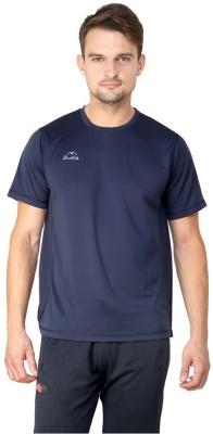 Dida Sportswear Solid Men's Round Neck Dark Blue T-Shirt