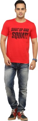 BBB Graphic Print Men's Round Neck Red T-Shirt