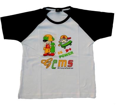Fashion Galaxy Solid Boy's Polo Neck T-Shirt