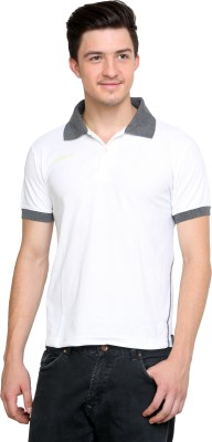 Dida Sportswear Solid Men's Polo White T-Shirt