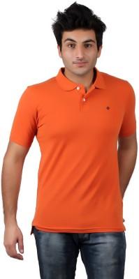 Numero Uno Solid Men's Polo Neck Orange T-Shirt