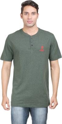 John Caballo Solid Men's V-neck Green T-Shirt