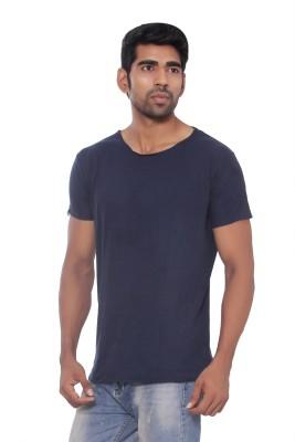Pezzava Self Design Men's Round Neck Reversible Grey, Blue T-Shirt