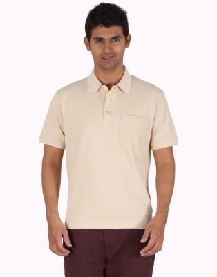 Furore Solid Men's Polo Beige T-Shirt