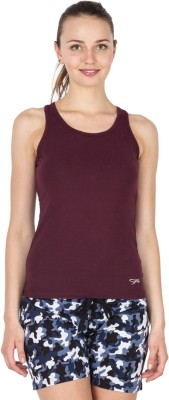 Lovable Solid Women's Round Neck Purple T-Shirt
