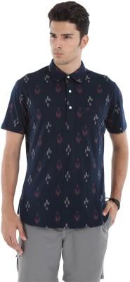 Zobello Printed Men's Polo Neck Multicolor T-Shirt