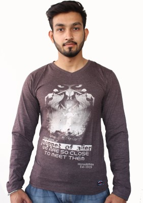 H&R Printed Men's V-neck T-Shirt