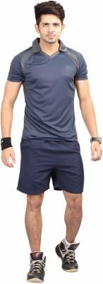 Being Responsible Self Design Men's Polo Dark Blue T-Shirt