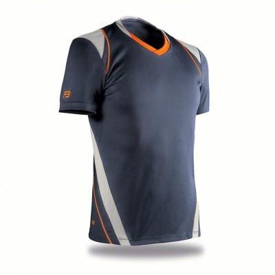 Blaser Self Design Men's V-neck Dark Blue T-Shirt