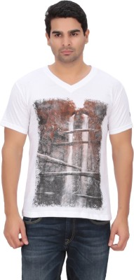 Indian Engineer Printed Men's V-neck White T-Shirt