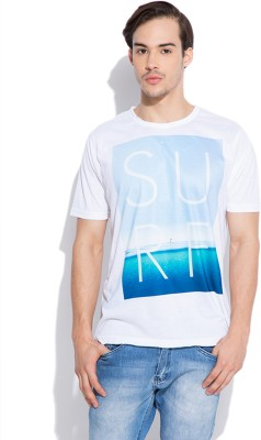Silly People Printed Men's Round Neck White T-Shirt