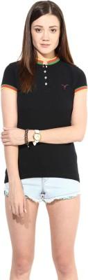 Calgari Solid Women's Polo Neck T-Shirt