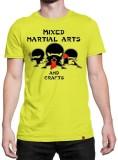 Irongrit Printed Men's Round Neck Yellow...