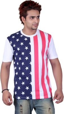 Vivid Bharti Printed Men's Round Neck T-Shirt