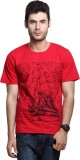 Rigo Solid Men's Round Neck Red T-Shirt