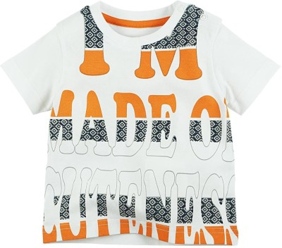 Fisher-Price Printed Baby Boy's Round Neck Multicolor T-Shirt