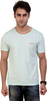 Wineberry Solid Men's Round Neck Light Blue T-Shirt