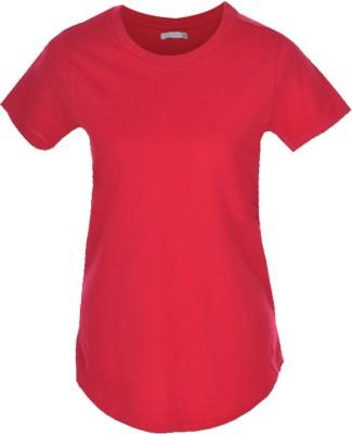 Nordlich Solid Women,s Round Neck T-Shirt