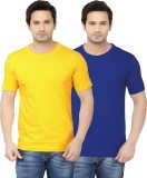 Ben Carter Solid Men's Round Neck Blue, ...