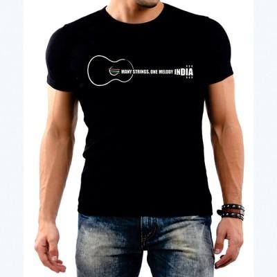 Vagabond Creations Graphic Print Men's Round Neck Black T-Shirt