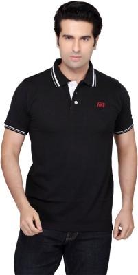 Always & Forever Solid Men's Polo Neck Black T-Shirt