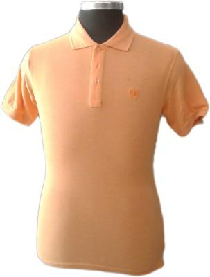 TOC Self Design Men's Round Neck Pink T-Shirt