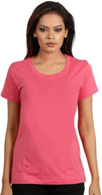 Maya Solid Women's Round Neck T-Shirt