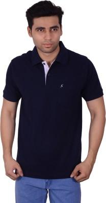 Studio Nexx Solid Men's Polo Dark Blue T-Shirt